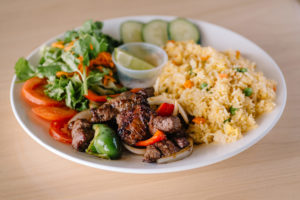 Shaken Beef with Fried Rice