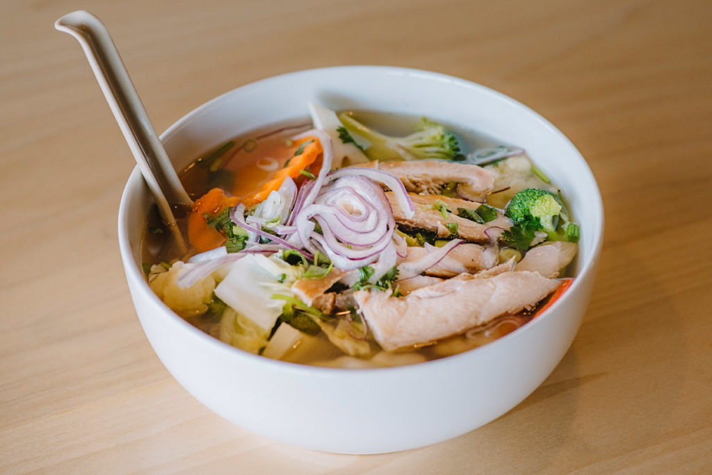 pho spoon grilled chicken pho
